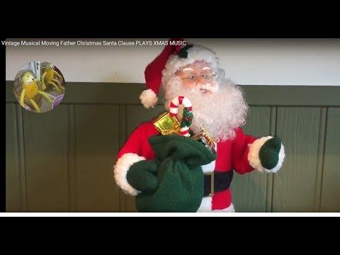 Vintage Musical Moving Father Christmas Santa Clause PLAYS XMAS MUSIC