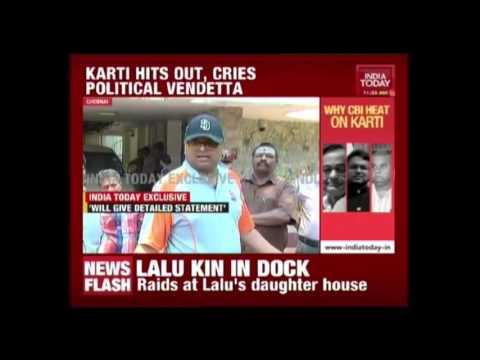 Karti Chidambaram Speaks To India Today On CBI Raid