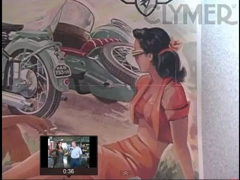 Clymer Manuals 1952 Zundapp KS601 Sidecar Show Interview Vintage Classic Antique Motorcycle Video