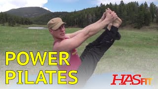 18 Minute Power Pilates Workout Routine w/ Sean Vigue - HASfit Pilates Exercises