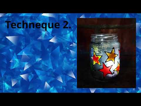 Glass Painting jam jars or mason jars. Part 1.