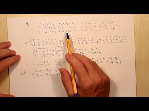 Решение однородных линейных систем. Тема