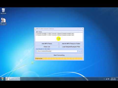 How To Use MP3 To WAV Converter Software