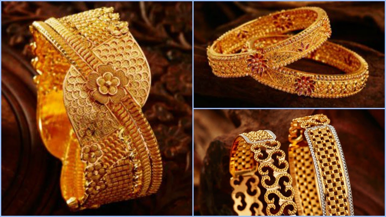 4465bea5391c5 Gold Bangle Designs From Khazana Jewellery