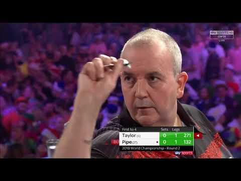 Taylor vs Pipe. World Darts Championship. Set 1