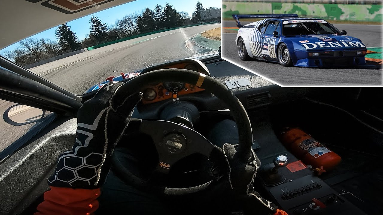 OnBoard Helmet Cam in a 1980 BMW M1 ProCar at Monza Circuit!