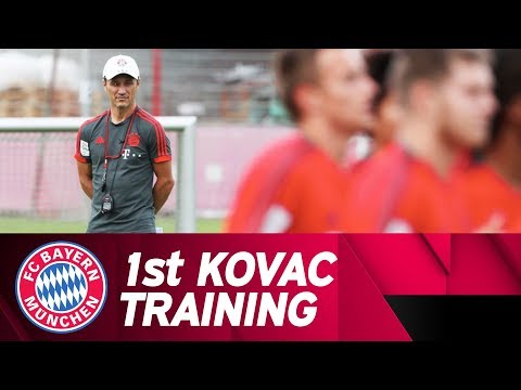 1st FC Bayern Training on the Pitch w/ Niko Kovac