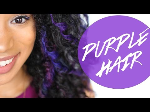 Dyeing My Hair Purple With Bigen Youtube