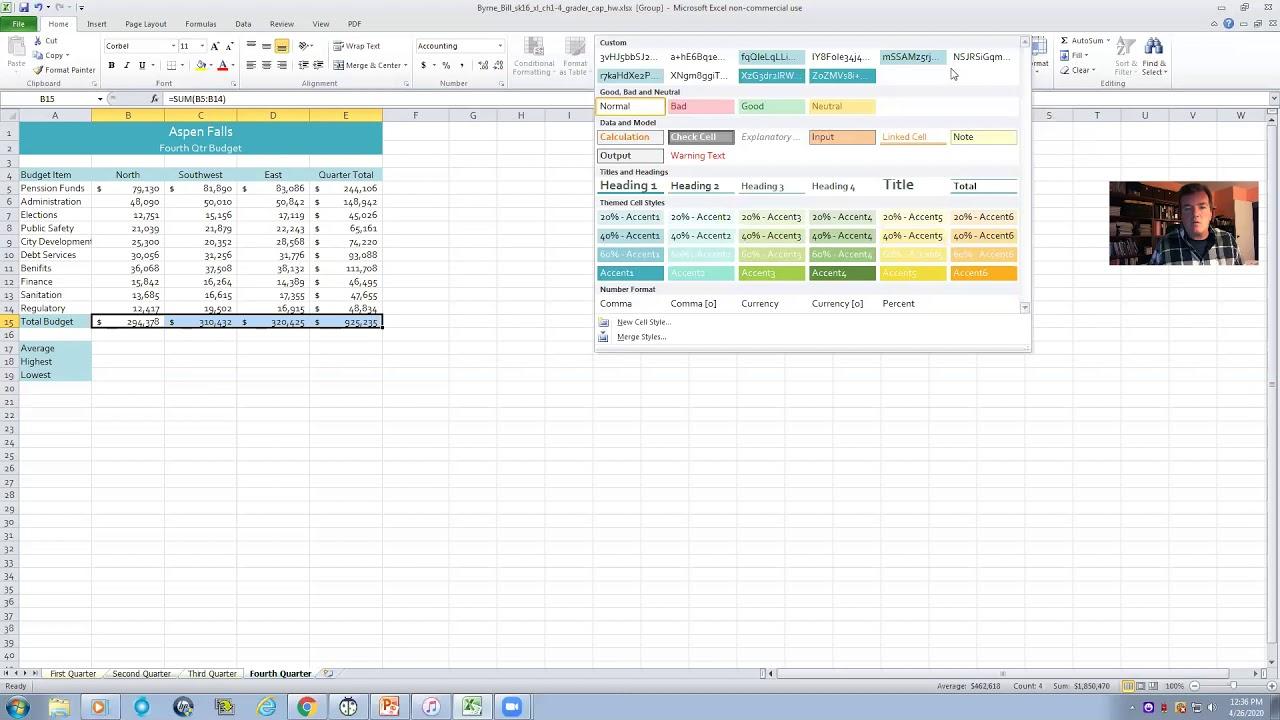 Excel Practice Exam Pearson Myitlab Youtube