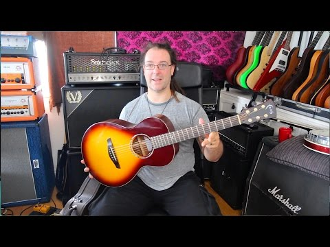 Win A Prototype Faith Mercury Parlour Acoustic Guitar