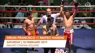 Rappler Fight Night: Drian Francisco vs Mateo Handig
