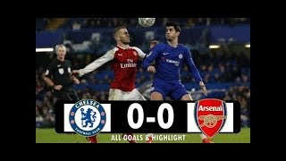 Chelsea vs Arsenal 0-0 - All Goals & Extended Highlights - Carabao Cup 10/01/2017 HD