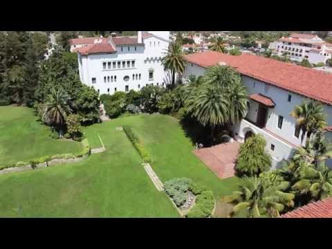 Stunning view of the red tile roofs of Santa Barbara, California (Part One)