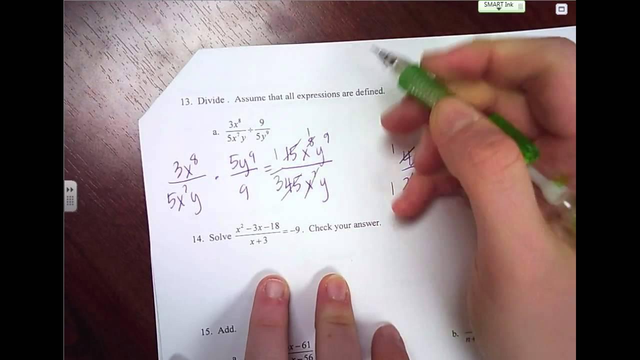 Algebra 2 Spring Final Exam Review
