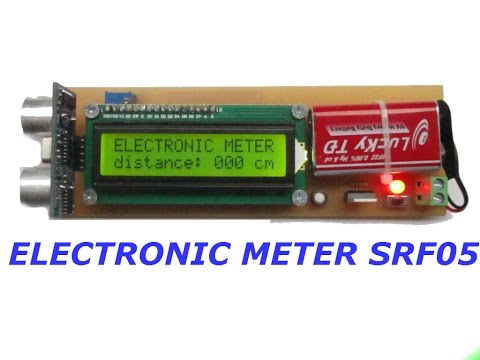 how to make  simple electronic  meter (supersonic sensor SRF05)   ✓