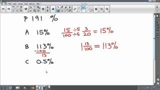 Ch 5 P191 percents as fractions