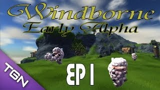 """Windborne: Early Alpha w/ Kage848 """"Building, Crafting, Voxel"""" (1080p YT-13) Episode 1"""