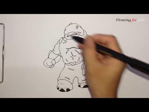 How to draw Captain Gantu Step by Step | Captain Gantu | Disney Wiki
