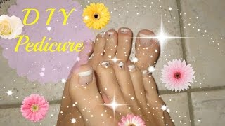 How To Do A French Pedicure !