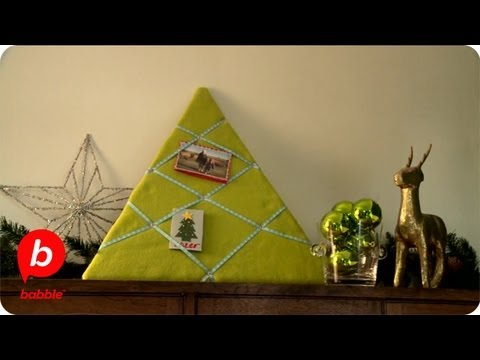 How to Make a Christmas Tree Card Holder | Crafts