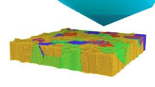Атомная визуализация резания БРС Р6М5 зерном АШК 💎🔨✨