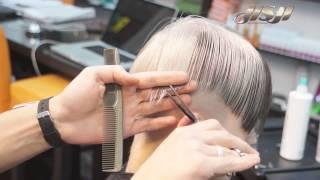 Стрижка линии на коротких волосах  Сергей Шапочка
