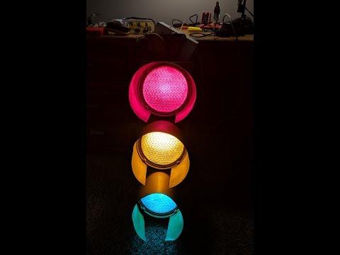 Arduino- Controlled Traffic Light Color Organ!