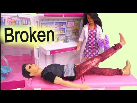911 Call Part 2 ! Barbie Ambulance Care Clinic Car ! Cookie Swirl C Video