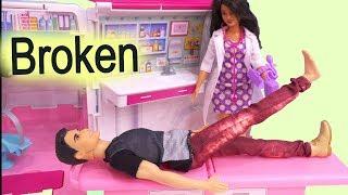 911 call part 2 barbie ambulance care clinic car cookie swirl c video