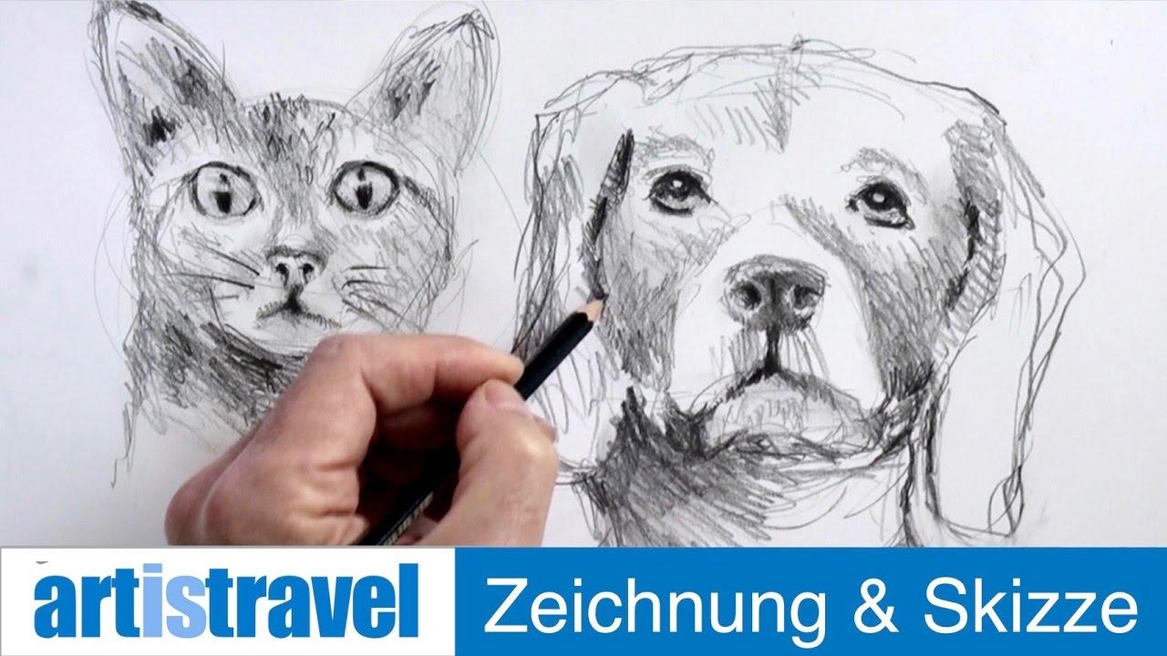 Tiergesichter Ganz Einfach Zeichnen Lernen 18 Youtube