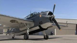 Restored WWII Navy TBM Avenger Torpedo Bomber- FLIGHT DEMO !