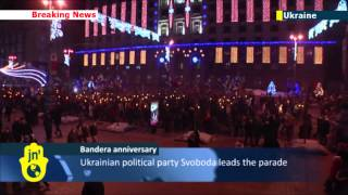 Ukrainian nationalists torchlight march: 104th anniversary of Stepan Bandera marked in Kyiv