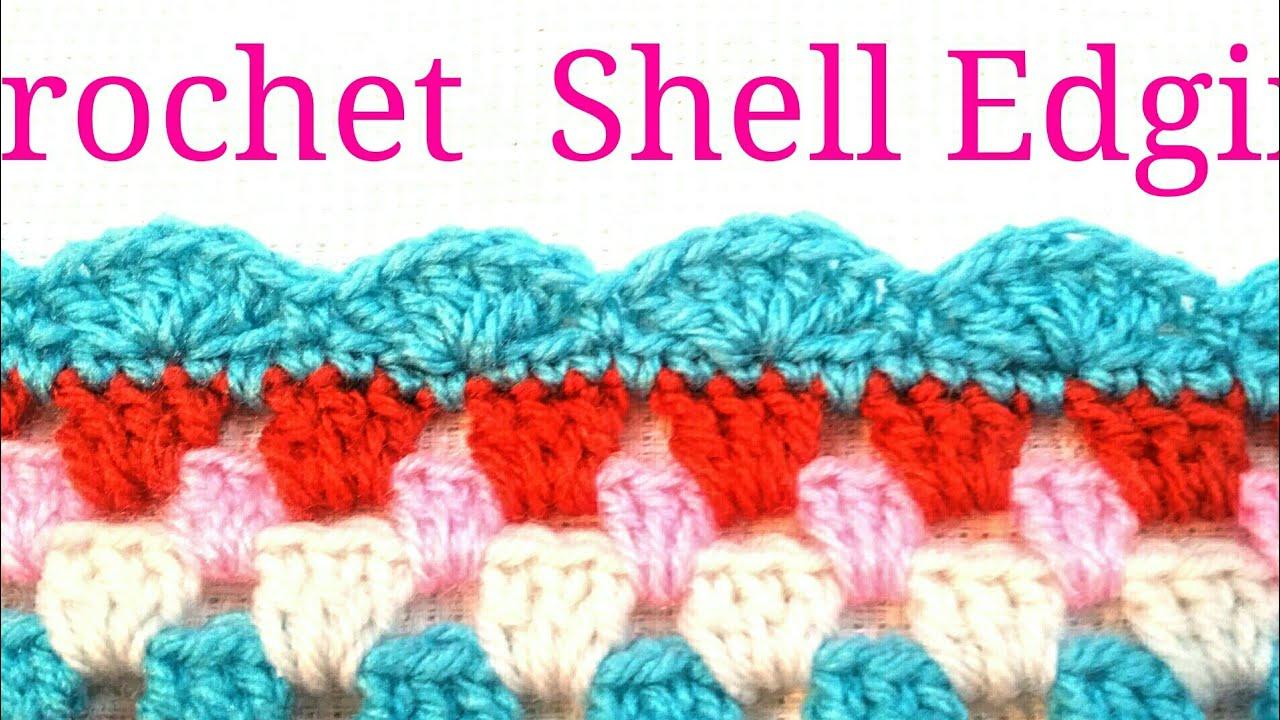 Easy crochet shell edging youtube easy crochet shell edging bankloansurffo Images