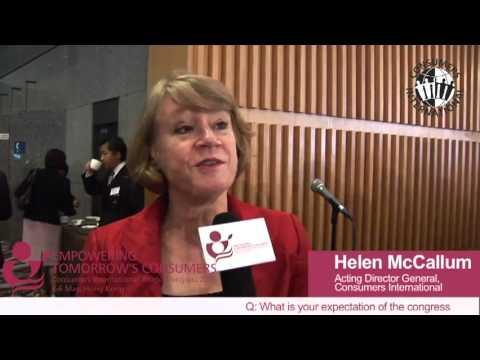 Helen McCallum - Consumers International World Congress
