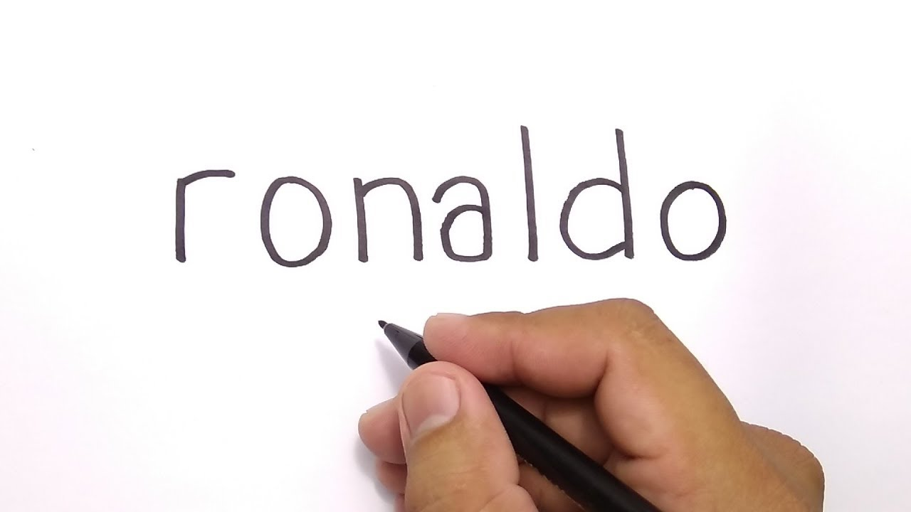 Wow How To Turn Words Ronaldo Into Cartoon For Kids Amazing Art
