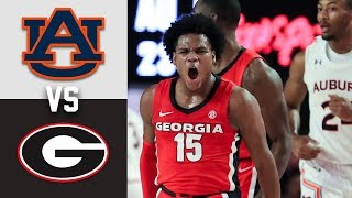 #13 Auburn vs Georgia Highlights 2020 College Basketball