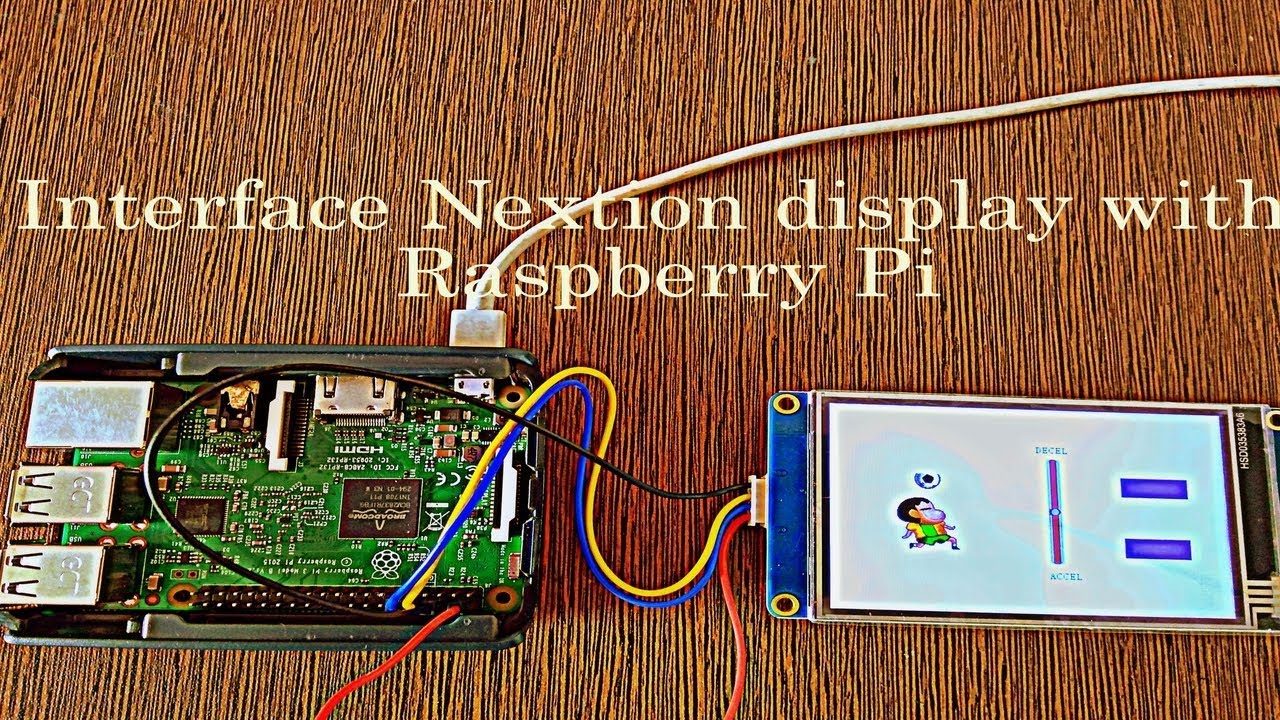Interface with Raspberry PI with Nextion Display