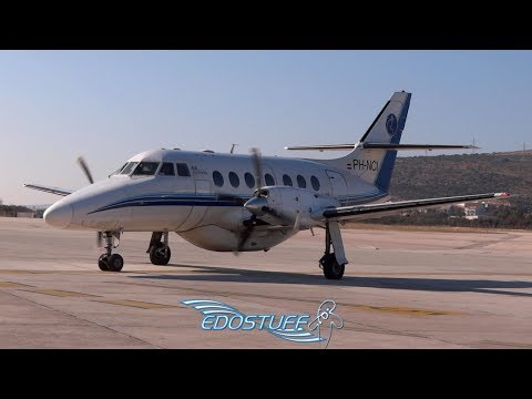 British Aerospace BAe-3201 Jetstream Taxi Along and Takeoff - Split Airport LDSP/SPU