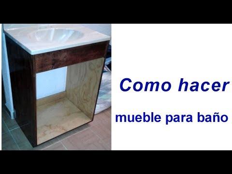 Como hacer mueble para ba o sencillo 17 youtube - Como hacer mueble para bano ...