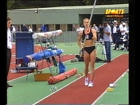 Emma George World Record Pole Vault 1998 - 4.58