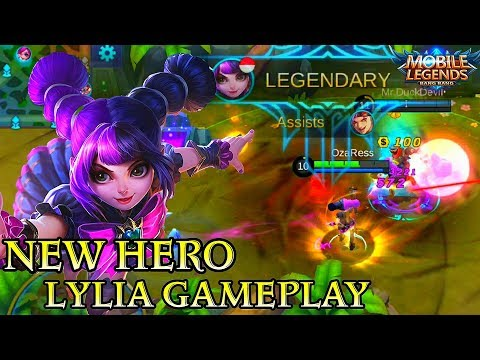 New Hero Lylia Little Witch Gameplay - Mobile Legends Bang Bang