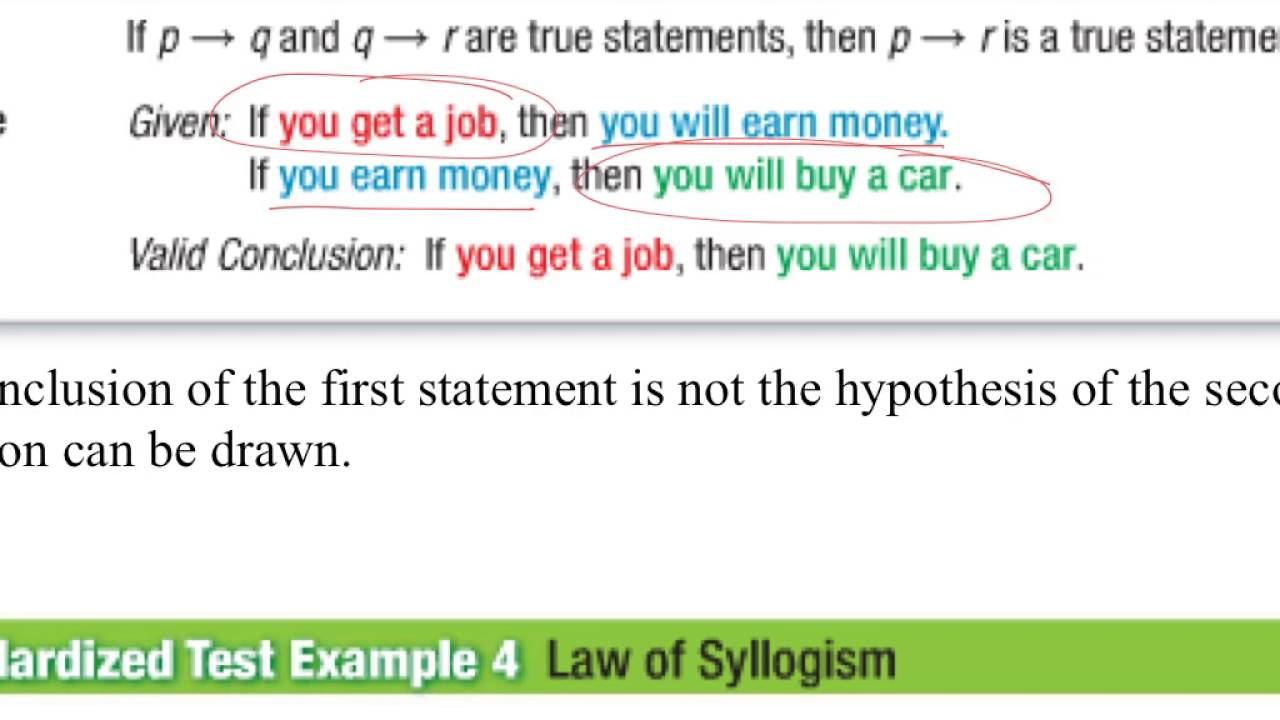 Geometry 24 Law Of Syllogism Youtube