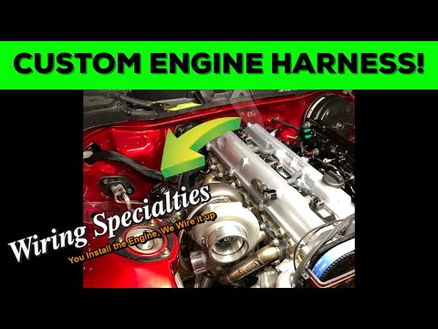 custom 2jz engine harness for the supra! 1989 Toyota Supra Turbo 7MGTE Motor