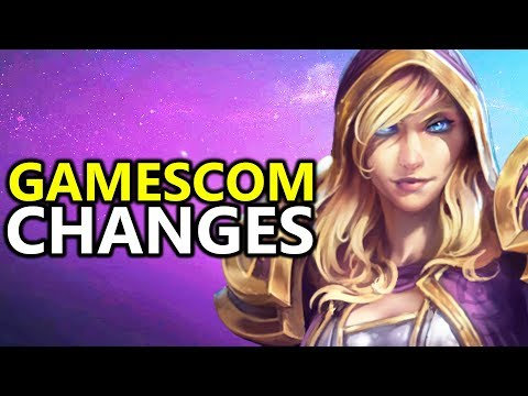 ♥ New Gamescom 2017 Jaina Changes - Heroes Of The Storm (HotS)