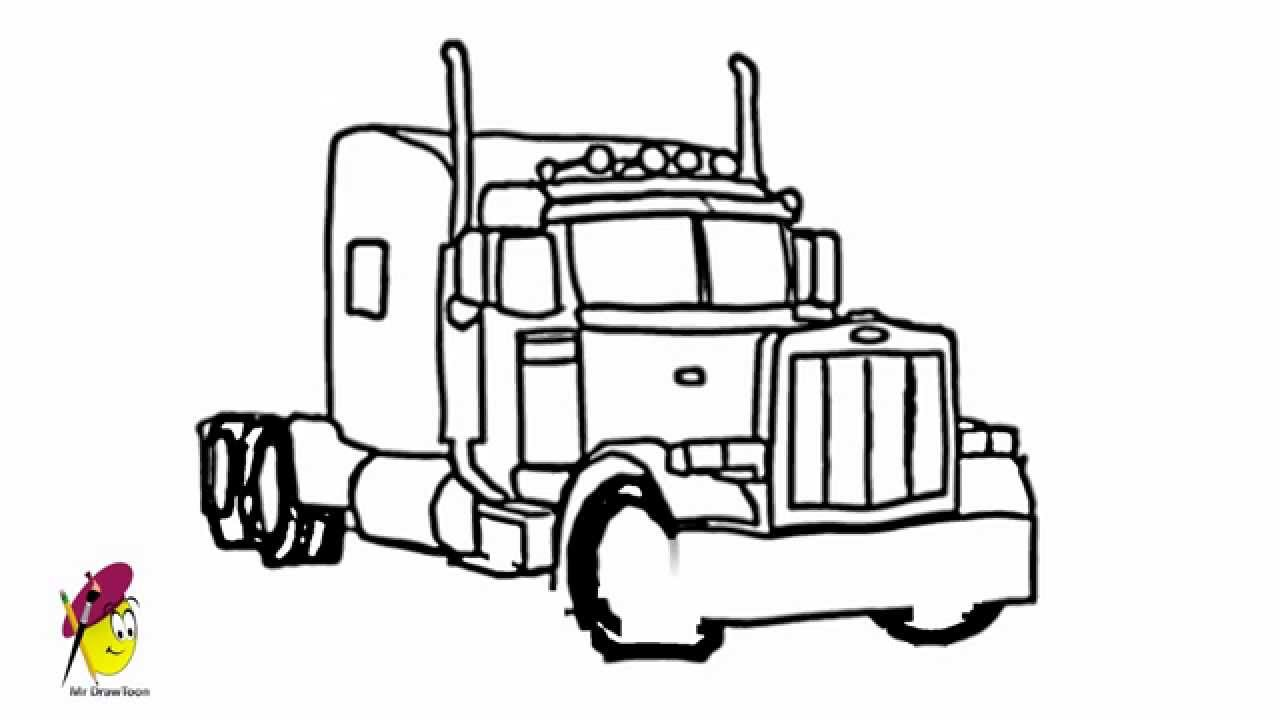 Uncategorized Easy To Draw Truck truck how to draw a cool and awesome youtube