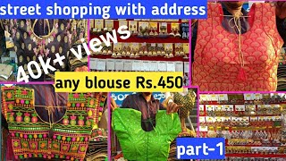Readymade blouses with price oxidised jewellery Banglore street shopping guide diml vlogs.
