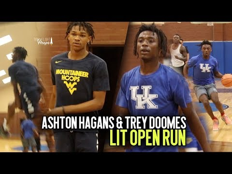 Kentucky Bound Ashton Hagans & WVU Commit Trey Doomes TAKE OVER LIT Open Run Session!!!