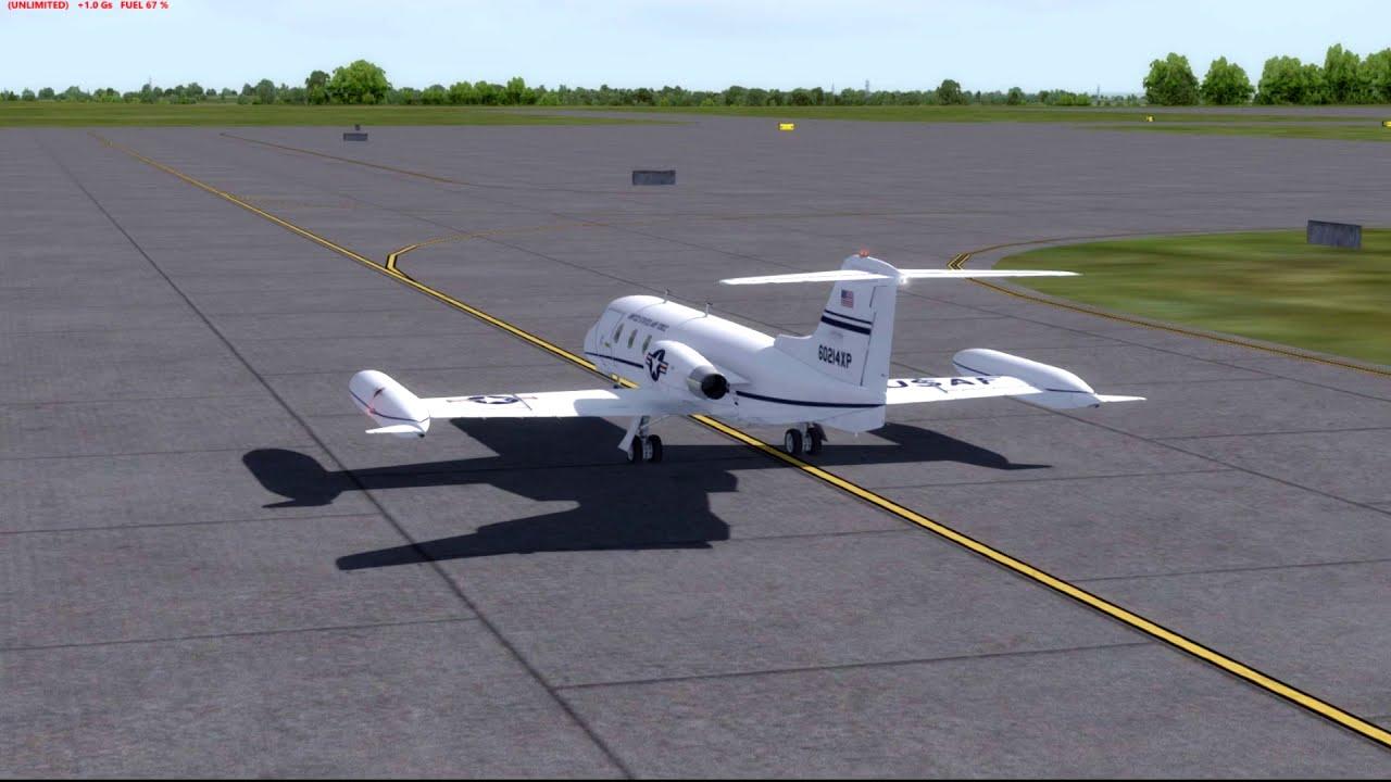 [P3d] Kansas City To St  Louis Feat  Xtremeprototypes Learjet 25d   Flightsimguy 42:24 HD