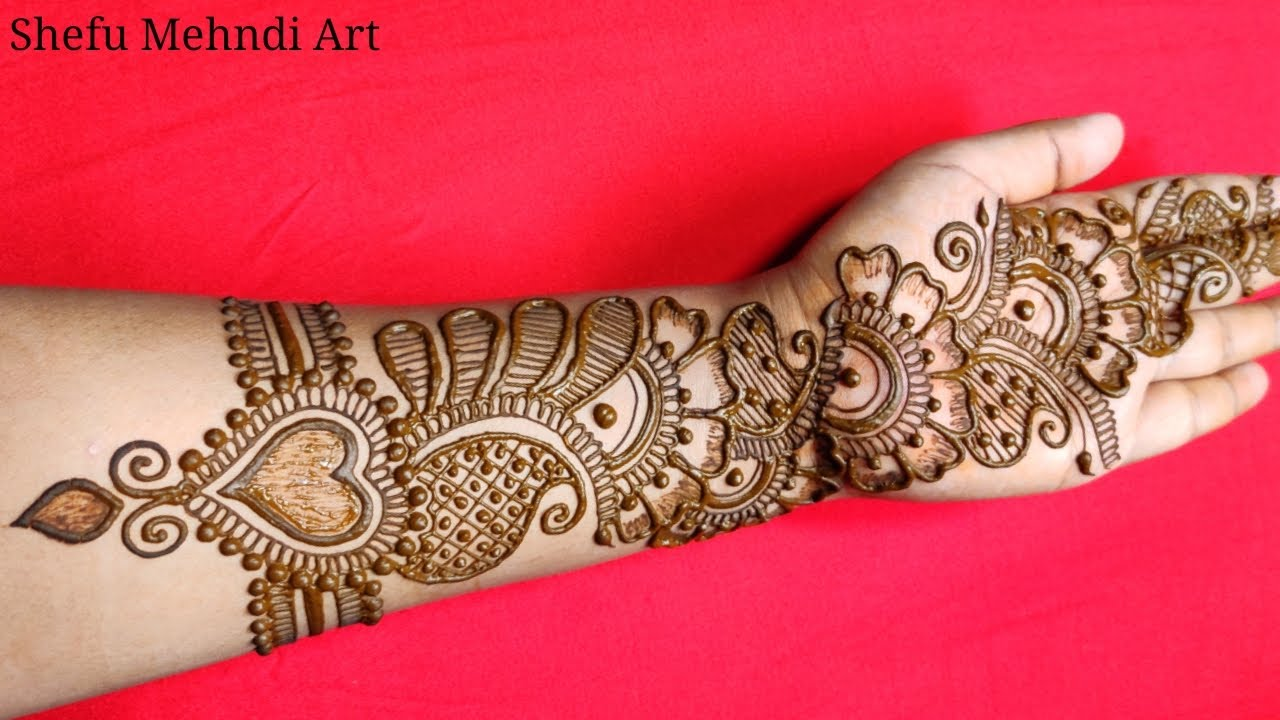 simple full hand arabic mehndi design