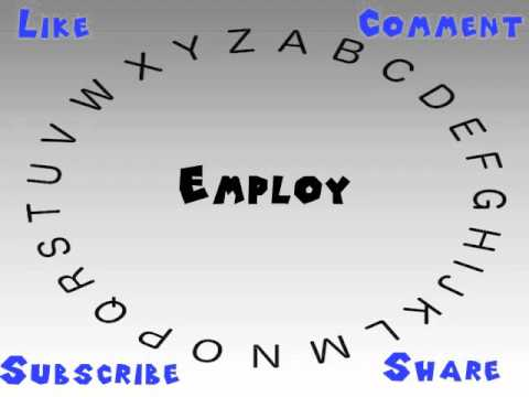 How to Say or Pronounce Employ